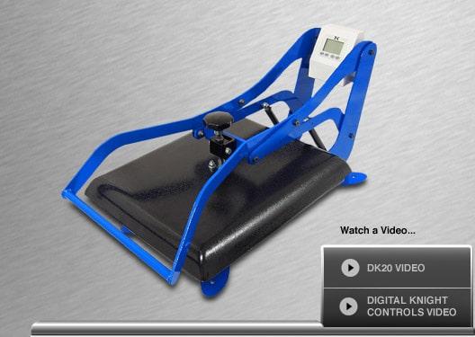 DK20 Heat Presses - Prensa de Apertura Vertical Digital Knight 16x20 ...